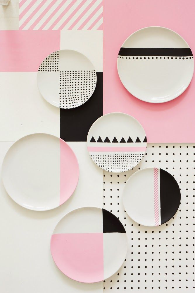 Love this color pink and the combination of the geometric patterns - Charlotte Love