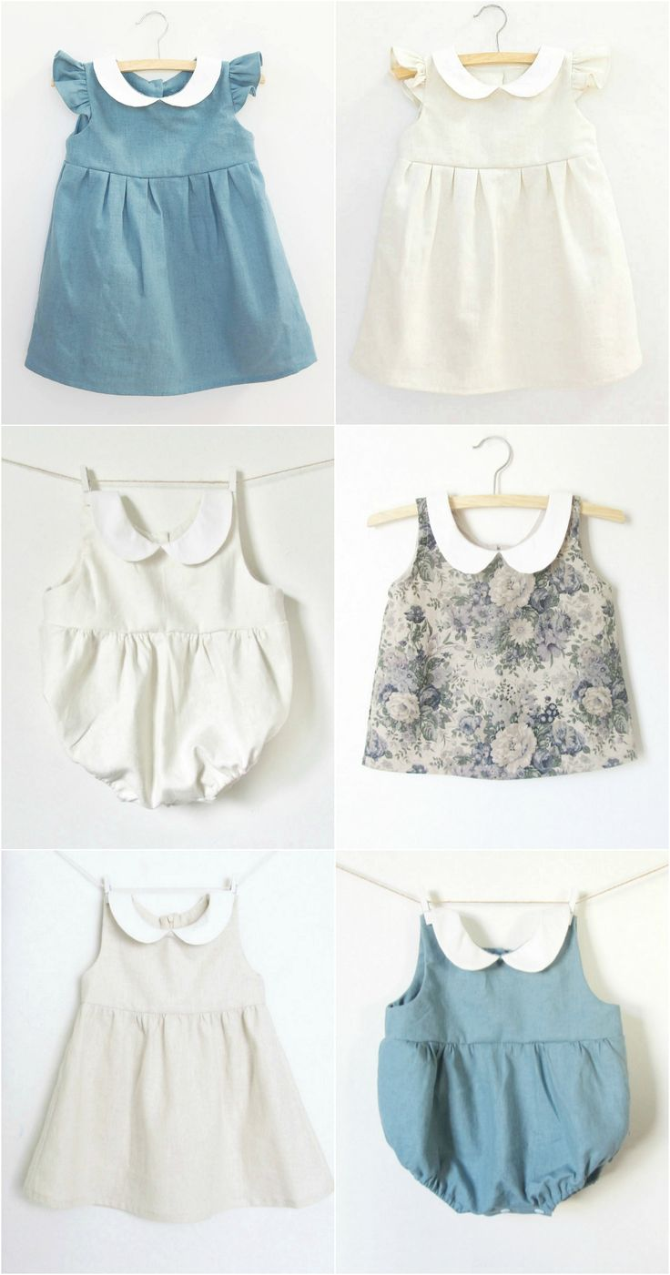 The Sweetest Handmade Vintage Style Linen Baby Clothes at Dabishoo on Etsy