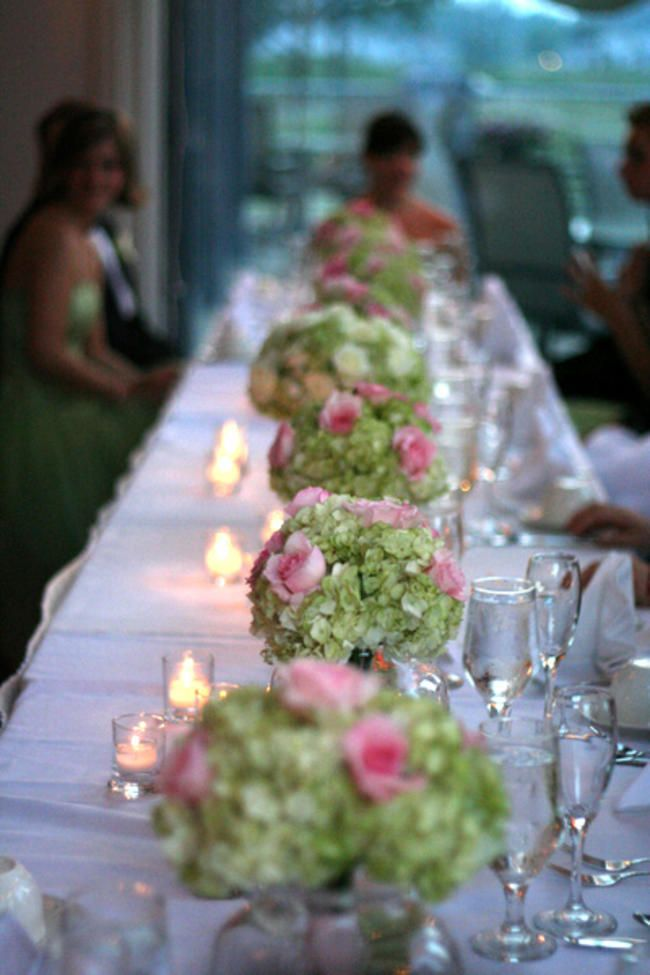 The best ideas about green hydrangea centerpieces on