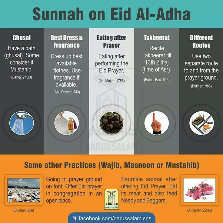 Sunnah of Eid-ul-Adha. Festival commemorating the Sacrifice of Prophet Abraham and his son Ismail, may peace be upon them both.