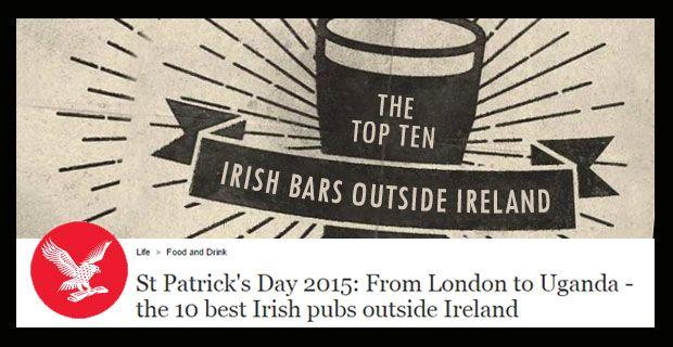 The Irish times is in the top ten bars