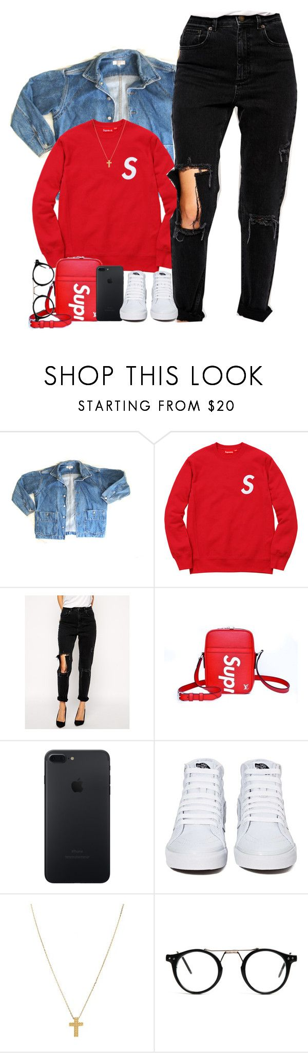 """""""YG- left, right"""" by mxnvt ❤ liked on Polyvore featuring GUESS, ASOS, Louis Vuitton, Vans and Gogo Philip"""