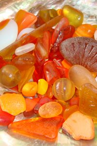 Orange Sea Glass | Bella Mare Sea Glass