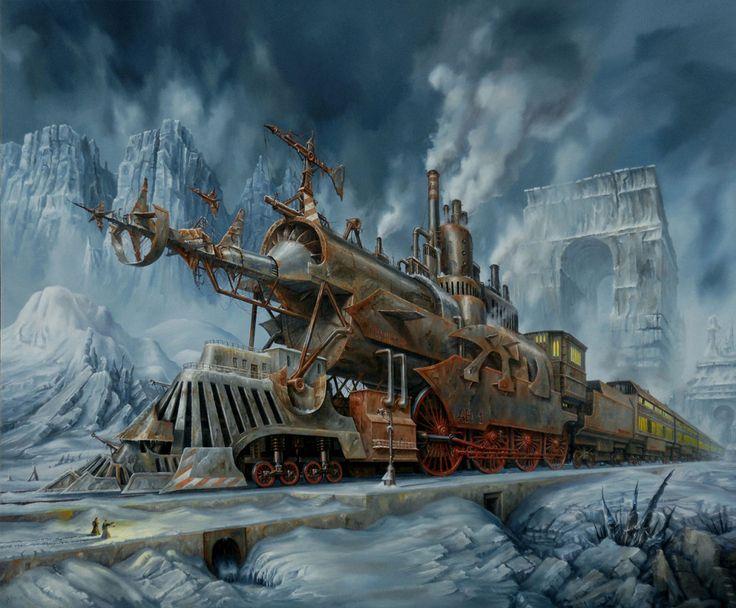 Steampunk Tendencies: titanic trains