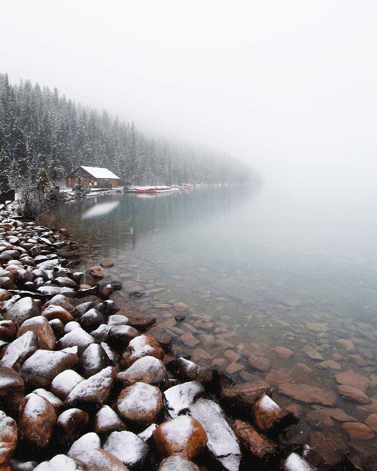 Misty (Lake Louise, Banff, Alberta) by Dan Cormier (@dansoutdoorlife) on Instagram