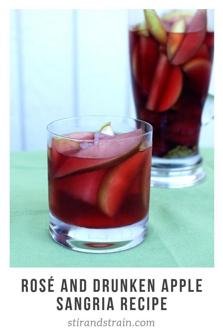 Sangria For Fall Yes Please Apples And Rose Wine Meld Together For A Perfect Autumn Sangria S Fall Cocktails Recipes Rose Sangria Sunday Brunch Cocktails