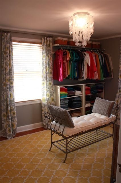 Love the idea of turning an extra bedroom into a dressing room.