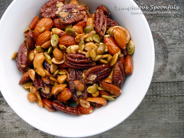 Italian Spiced Nuts - Fresh rosemary, Italian seasoning, garlic, olive oil, and coarse sea salt infuses these mixed roasted nuts with flavor.