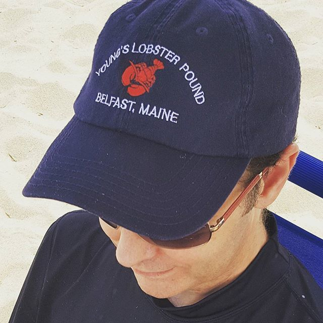 Represent the midcoast of Maine wherever you go! Sporting merch from Young's Lobster Pound in Belfast is cool.    #Maine #midcoast #midcoastmaine #belfast #lobster #coastal #swag #hat #beach #hat #baseballcap  #Regram via @sadlerhousemaine