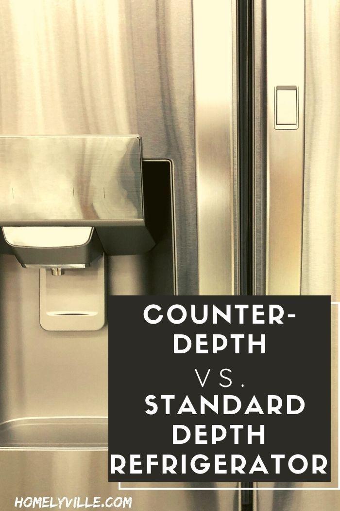 Counter Depth Vs Standard Depth Refrigerator Which Is Better In 2020 Counter Depth Refrigerator Counter Depth Refrigerator Models