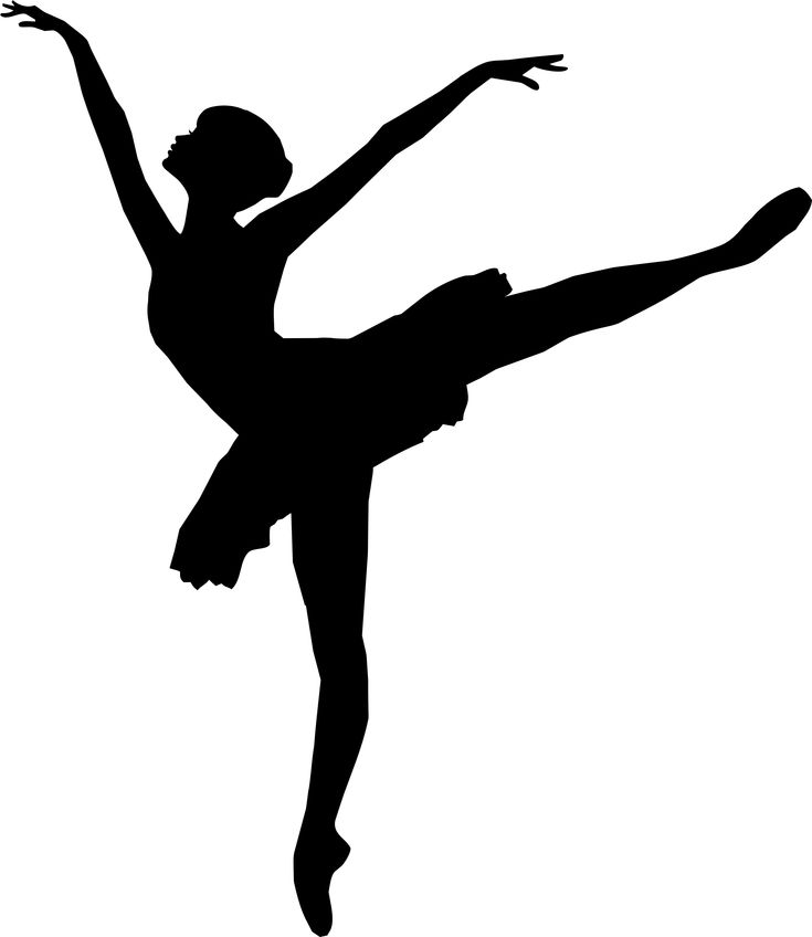 Graceful Ballerina Silhouette by @GDJ, Graceful Ballerina Silhouette from clker.com., on @openclipart