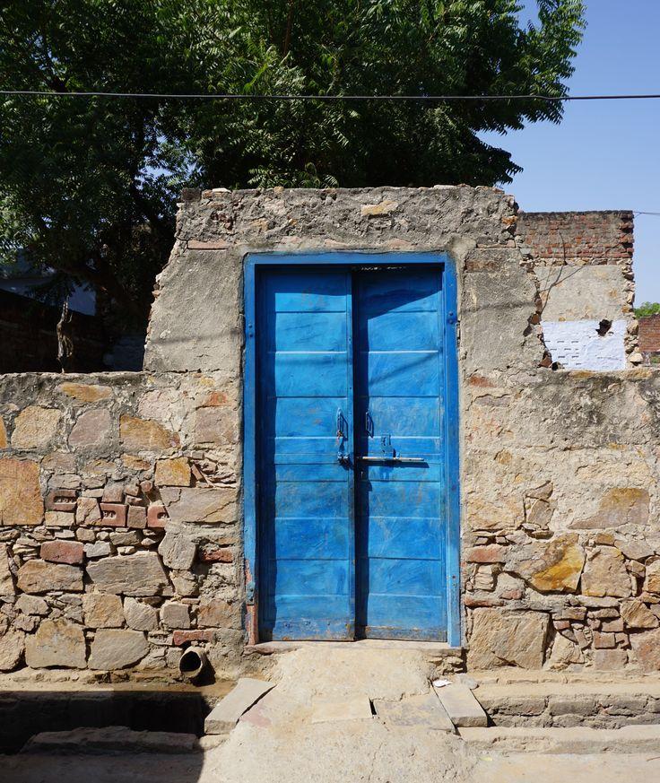 Blue doors that open to.....?