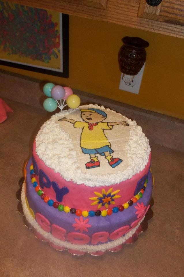 Caillou Birthday Cake Julie S Creations Pinterest