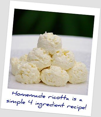 Make Ricotta Cheese: Chee Dishes Sweet, Homemade Recipes, How To Make ...