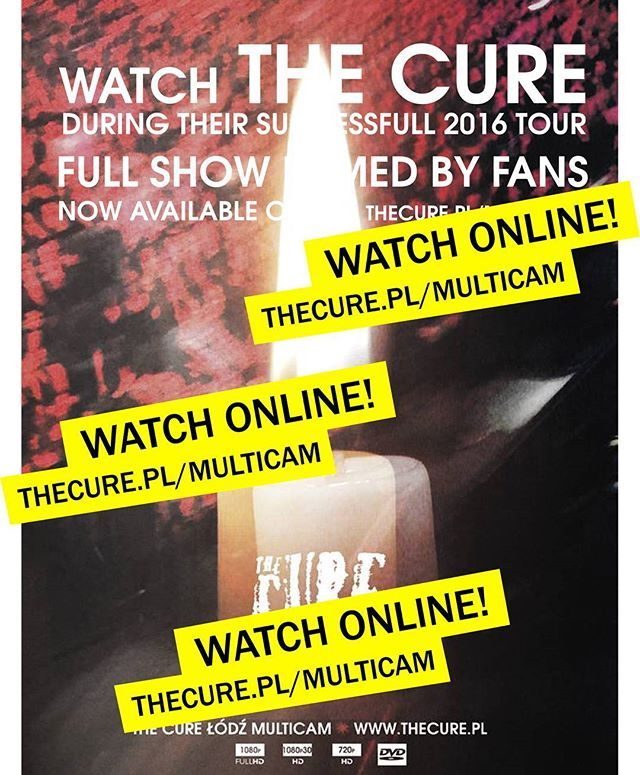 "Watch ""The Cure Lodz Multicam"" online! at thecure.pl/multicam #free #fan #film #project #TheCure #Multicam #rock #pop #indie #goth #alternative #postpunk #80s #90s #music #instamusic #live #concert #download #video #musicnews #Lodz #koncert #AtlasArena #muzyka #watch #online #TheCure40"