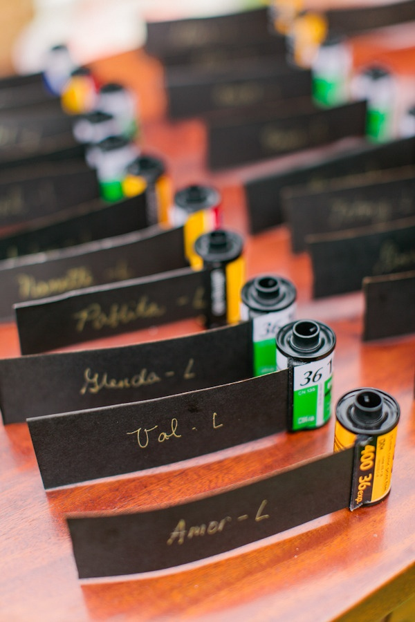 to pay homage to the Groom's passion for photography, guests were assigned seats using old rolls of film  Photography By / markcantalejo.net, Coordination By / blissunlimitedcebu.com