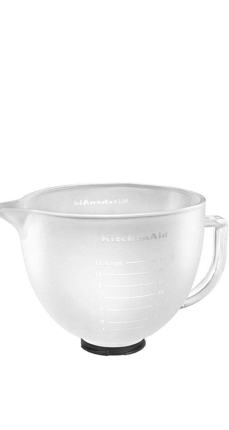 Add Some Style To Your KitchenAid Stand Mixer With This Frosted Glass Bowl.