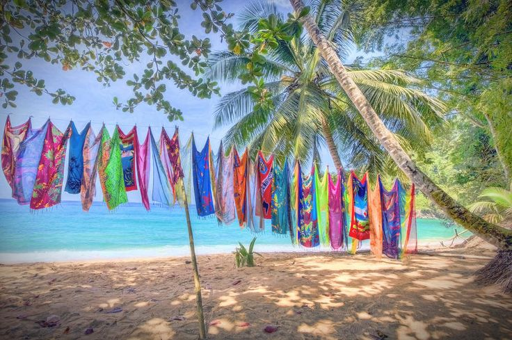 Englishman's Bay, Tobago Colourful Cove by Nadia Sanowar