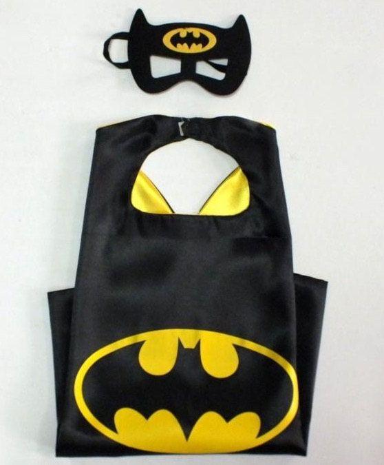 Batman Cape & Mask Set. Batman Superhero Birthday Party. Party Favors. by LilPartyTreasures on Etsy