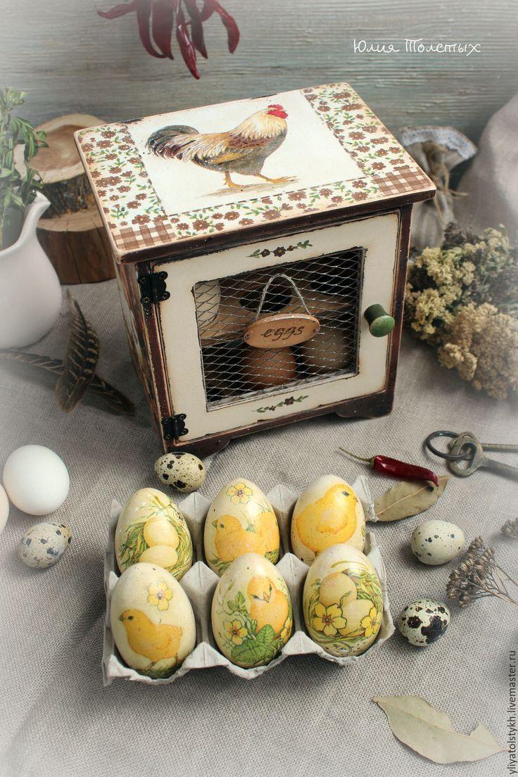 Купить Шкафчик для яиц - коричневый, Шкафчик, куры, для яиц, пасхальный декор, для продуктов, для дома и интерьера