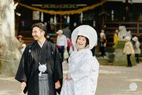 とある晴れた日 長野県白鳥神社 中棚荘での結婚式 和装