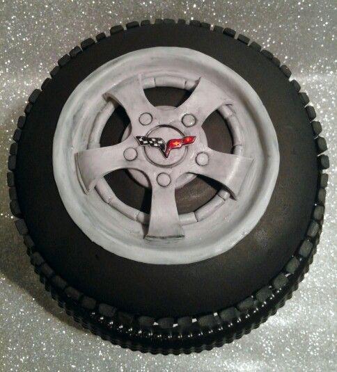 Corvette Tire Birthday cake, by T.Hawkins