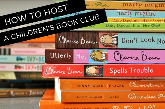 how to host a children's book club from Classic Play..how fun! :)