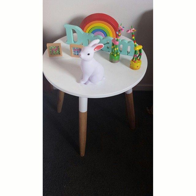 Cute side table, little girl's room.