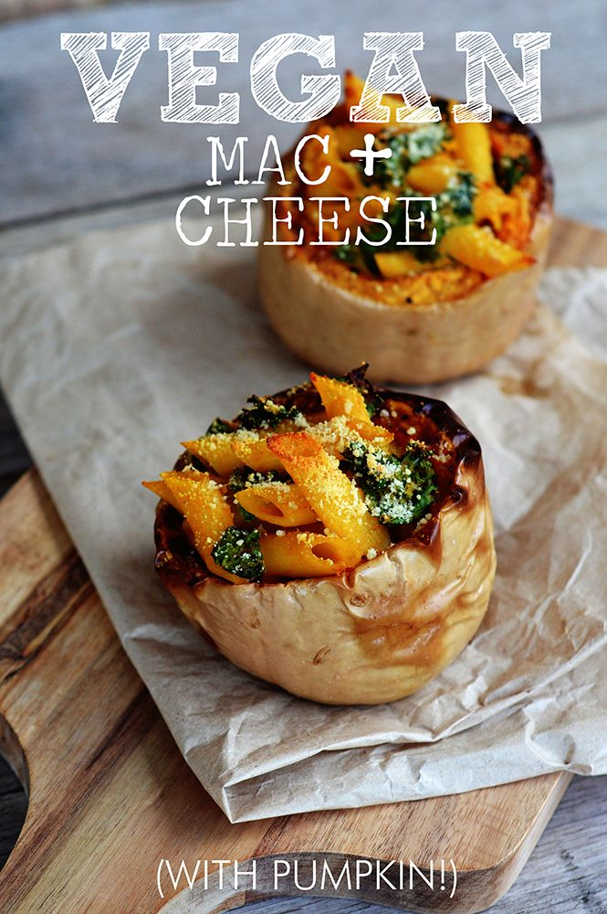 Vegan Mac and Cheese  Full of pumpkin and kale, vegan and free from gluten and dairy!