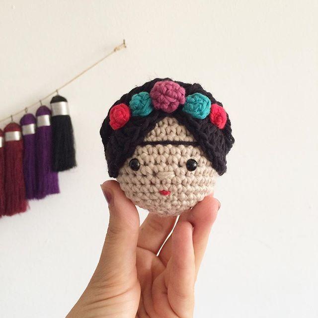 I really love making this little head of Frida Kahlo. It always reminds me how powerful women can be #amigurumi #amigurumis #craftastherapy #craft #crochet #crochetaddict #crochetersofinstagram #yarn #yarnaddict #häkeln #ganchillo #örgü #organik #organikoyuncak #toys #cotton #handmade #crocheting #crochetlove #elisi #elemeği #oyuncak #makersgonnamake#yarnporn #fridakahlo #frida #etsysellersofinstagram #etsy #etsyfinds