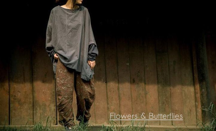 WORLDWIDE FREE SHIPPING Women Linen Shirt Blouse Plus Size Loose Oversized Loose Lagenlook Boho Shirt Cotton Blouse Gypsy Natural Clothing by FlowersButterflies15 on Etsy