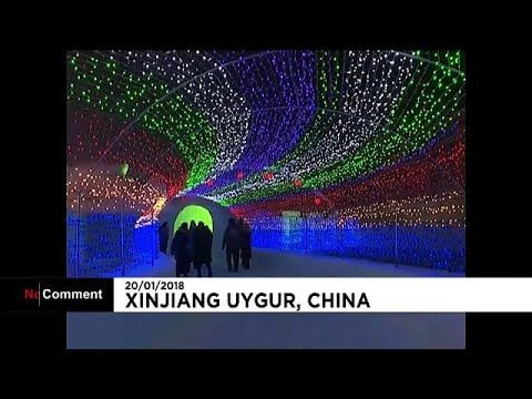 60,000 cubic meters of snow were used to create six areas of different light shows, fireworks and ice and snow sculptures… READ MORE :  What are the top stories today? Click to watch:  euronews: the most watched news channel in Europe Subscribe!   euronews is available in 13 languages:  In E...