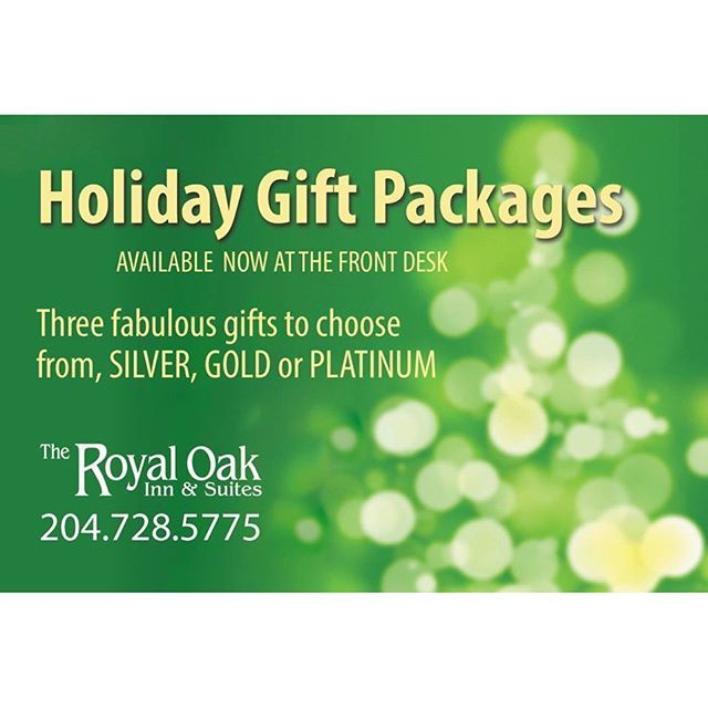 Our holiday gift packages are available at the front desk!