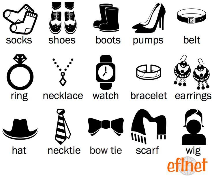 Footwear and Accessories - Worksheet 1 | EFLnet