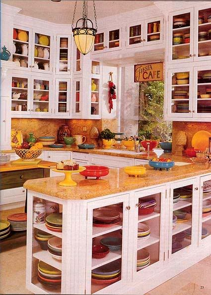 Hey @Lisa Pirtle, now THIS is a Fiesta collection.  And a kitchen to hold it all.