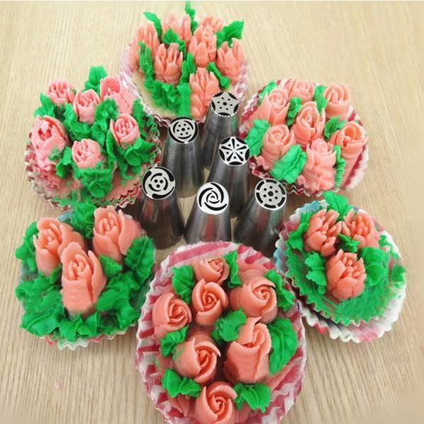 HappySatchels Flower Cake   Piping WITHOUT PIPING BAG  Cake Decoration Set  Regular price $79.99  Sale price $29.99