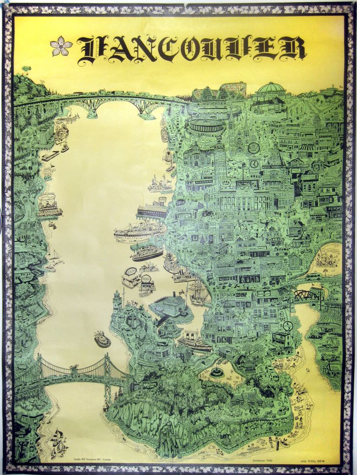 Map Of Oregon State Fairgrounds%0A Illustrated Vancouver  Vancouver  an illustrated poster by W Ellis  circa