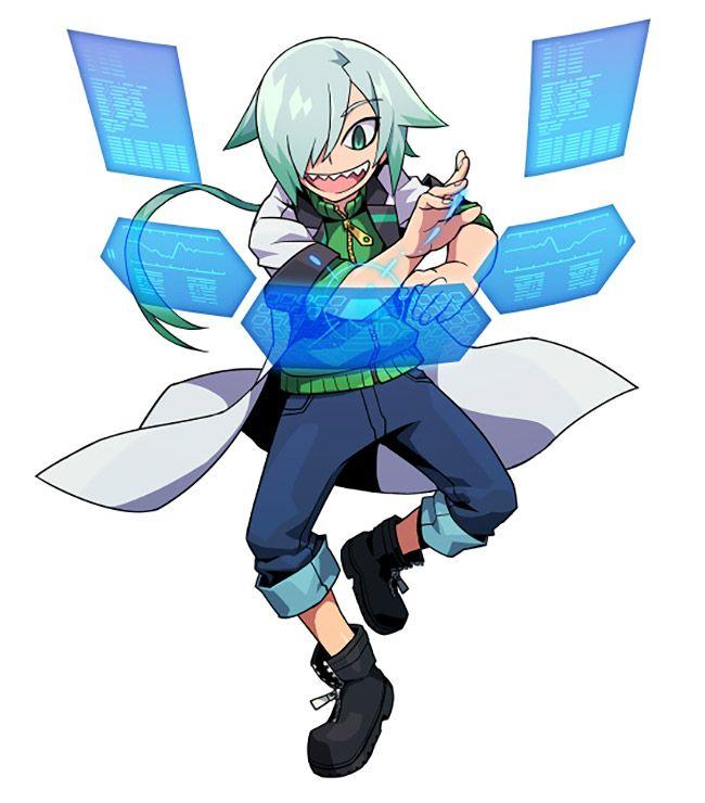 Teseo from Azure Striker Gunvolt 2