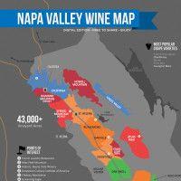 Napa Wine Map by Wine Folly