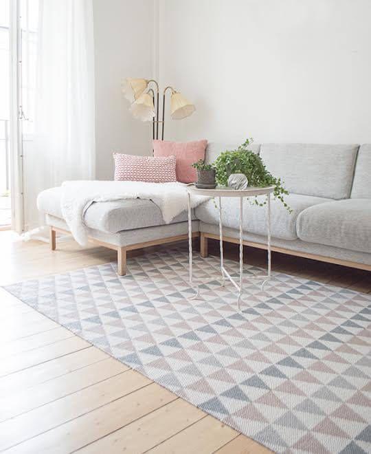 tribus teppe grå rosa