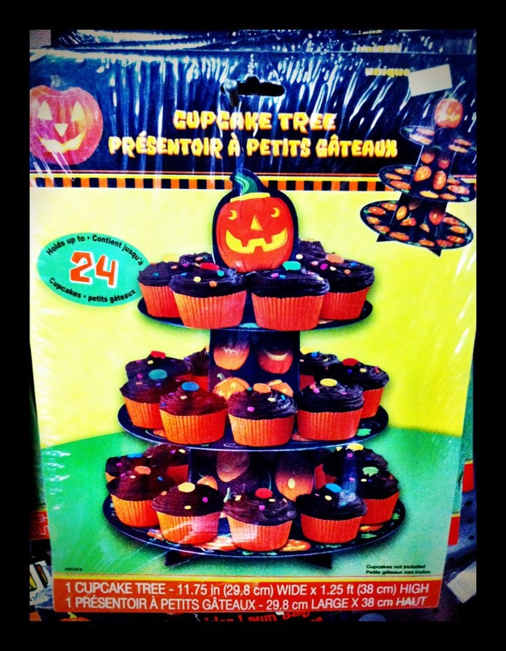 pumpkin cupcake holder