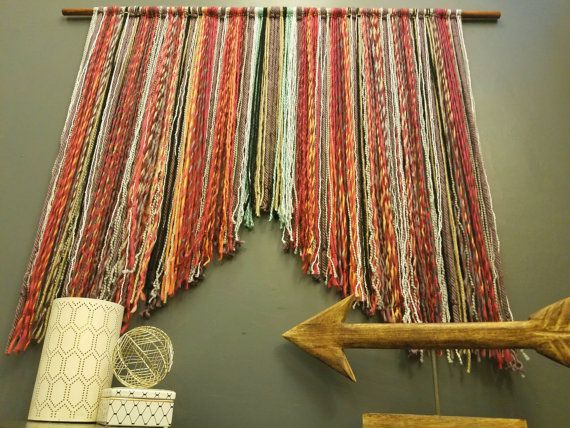 This plum and cranberry boho wall hanging can be accented to match any room. It is made from the highest quality wool to give lots of depth and texture to your wall. Imagine how unique your space will look with this hanging in it. This is a large wall hanging and can definitely liven up any space. It looks great over couches, beds, cribs, in kid rooms, nearly anywhere! The rectangular shape of this hanging is the perfect shape to make the space above your babys crib beautiful and soft. It…
