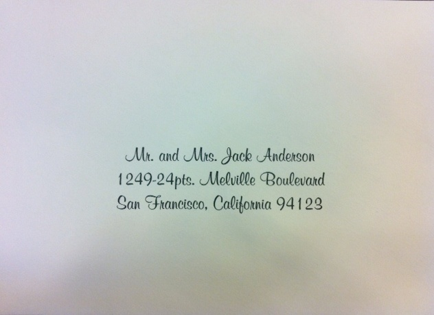 Calligraphy Font Styles For Envelope Addressing Wedding Www