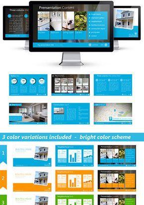 Plantilla para powerpoint editable presentación empresa inmobiliaria