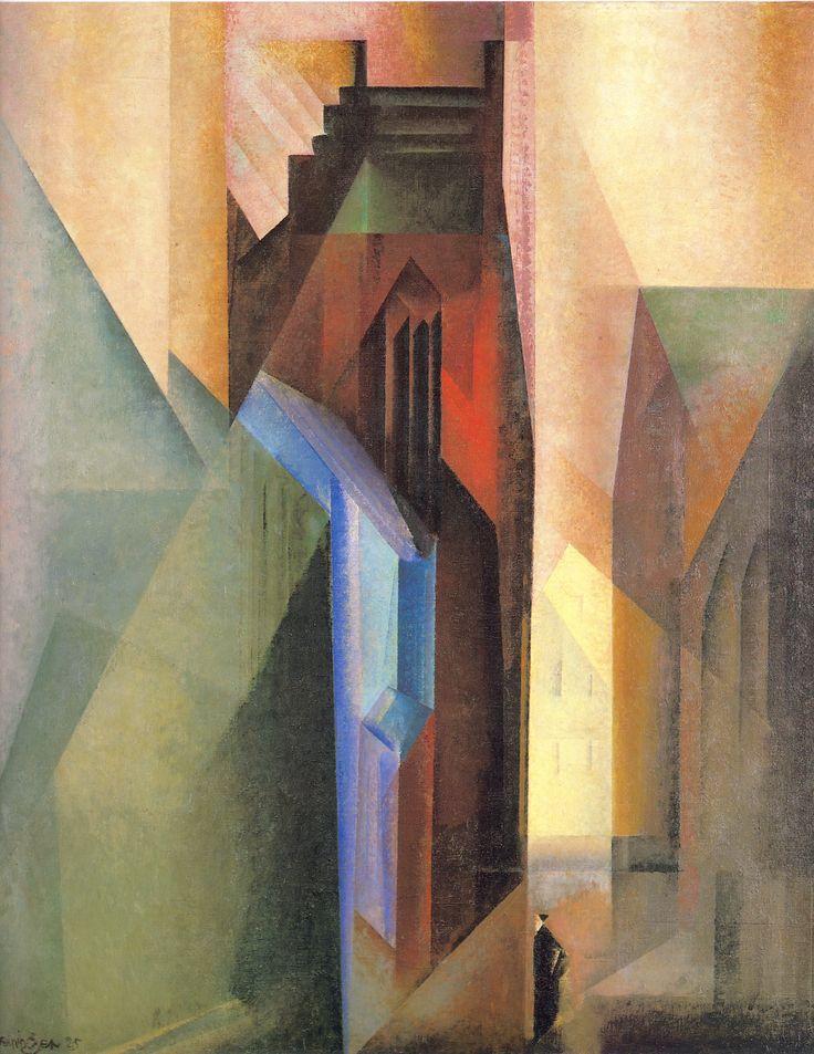 Torturm II (1925) by Lyonel Feininger (German-American, 1871 – 1956)
