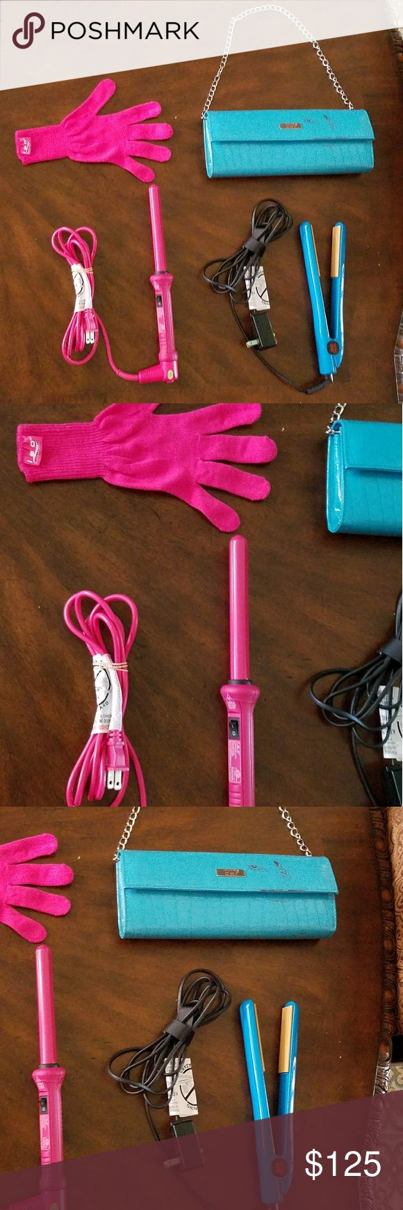 Chi Hair Straightener & Case and Iso Tools Wand Both the Ultra Chi Hair Straightener and Iso Beauty Tools Curling Wand has been used a few times. The glove of the wand has never been used. The matching bag case for the Ultra Chi Hair Straightener has been stained by my red hair dryer while in storage in my drawer. That is the only bad looking thing on these items. However, the red paint stain do not affect the straightener itself, nor the purpose of the carrying case. I do not know how that…