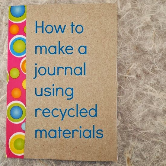 How to make a journal using recycled materials for Diy crafts using recycled materials