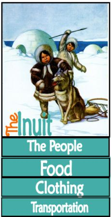 Free Arctic & the Inuit lapbook printables from Tina's Dynamic Homeschool Plus.