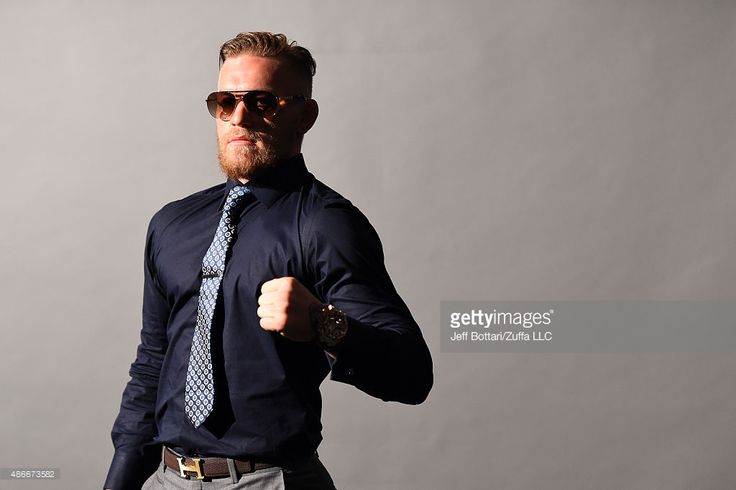 UFC interim featherweight champion Conor McGregor waits backstage during the UFC's Go Big launch event inside MGM Grand Garden Arena on September 4, 2015 in Las Vegas, Nevada.