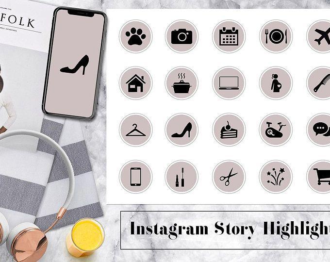 CUSTOM instagram story highlight icons - updated